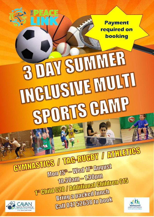 Latest news the peacelink for Sports camp brochure template